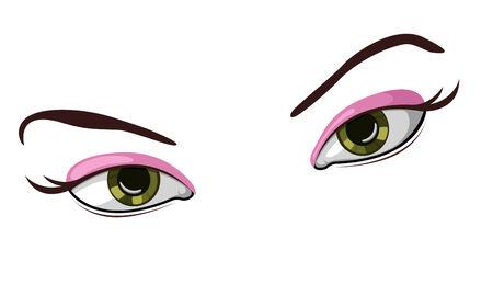 Vector illustration of beautiful female eyes Stock Vector - 4672339