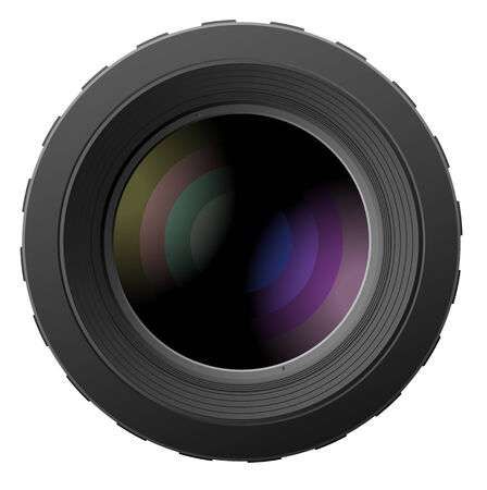 lense: Vector illustration of realistic camera lenses