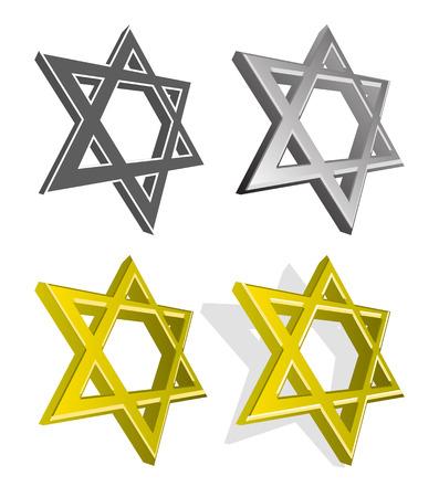 Vector illustration of Jewish stars Vector