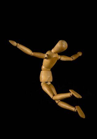 marioneta de madera: Marioneta de madera que enarbolan la libertad concepto
