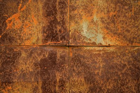 Texture of old metal grungy wall  photo
