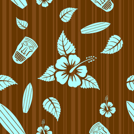aloha: Vector aloha nahtlose Muster