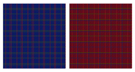 Vector illustration of two checkered patterns  Vector