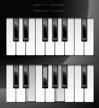 Vector illustration of realistic piano keys