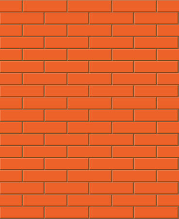 Vector seamless red brick texture  Vector
