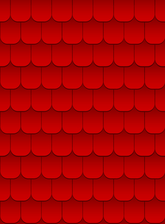 tile roof: seamless texture of red tile