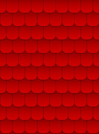 roof line: textura transparente de tejas rojas  Vectores