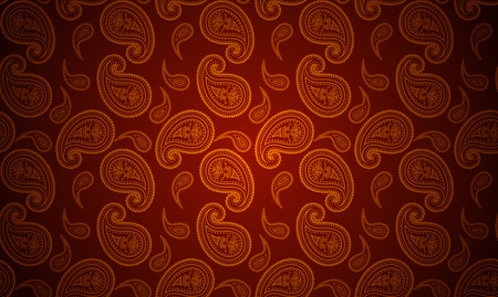 seamless paisley gold and red wallpaper  Vector