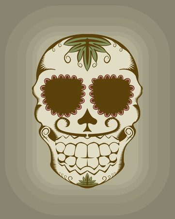 illustration of decorative sugar skull Фото со стока - 6766268