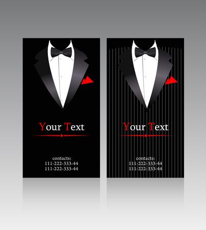 biglietti da visita con abiti eleganti per uomini d'affari