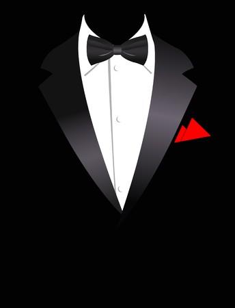 traje de negocios elegante con arco  Ilustración de vector