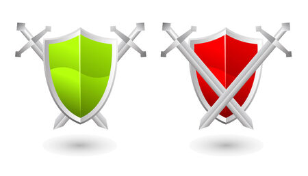nobility symbol:  illustration of shield, security concept