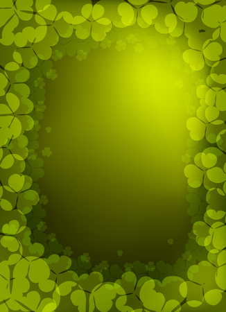 Vector clover background for St. Patrick Day, eps10  Vector