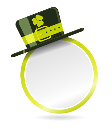 Vector label with top hat for St. Patrick Day Stock Vector - 8538971