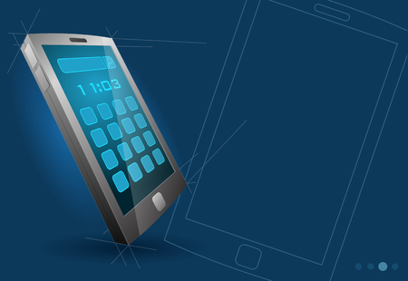 Vector modern touch screen device, mobile phone, tablet computer, etc., eps10  Vector