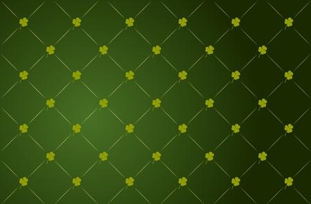Vector green Clover Background für St. Patricks Day