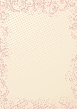 beżowa tapeta w kwiaty Ilustracje wektorowe