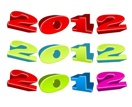 illustration of positive colorful 2012 year Stock Vector - 10901095