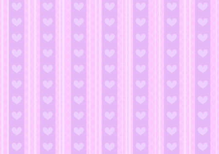 Vector pink and purple heart background for st. Valentines Day  Vector