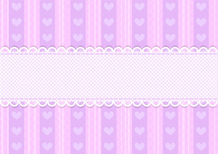 Vector pink and purple cute heart background with copyspace Stock Vector - 12680378