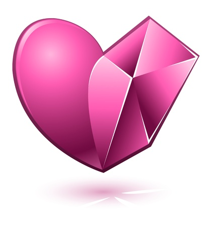 heart clipart: Vector illustration of pink abstract heart