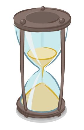 Vector illustration of cartoon style hourglass