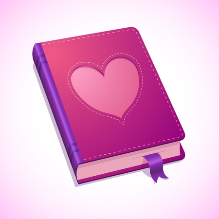illustration of pink diary, with heart for Valentines Day Stock Vector - 17285133