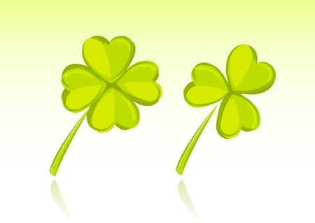 three leaved:  illustration of clover for St  Patricks Day