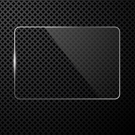 gloss banner:  abstract black technology background with transparent design element
