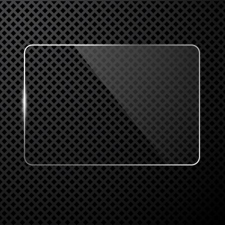 abstracte zwart-technologie achtergrond met transparante ontwerp element Stock Illustratie