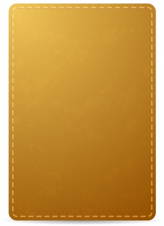 stitching: brown notebook cover page with leather texture, isolated on white background