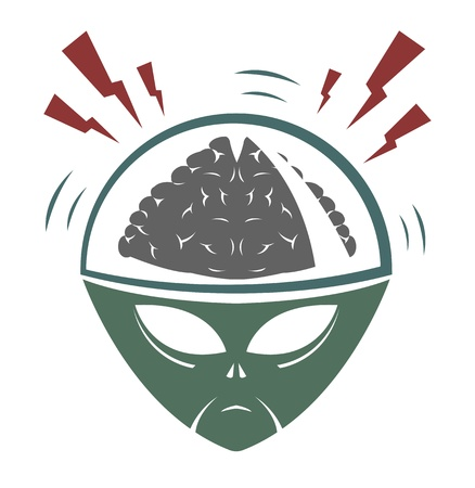 invader: illustration of alien mega brain invader