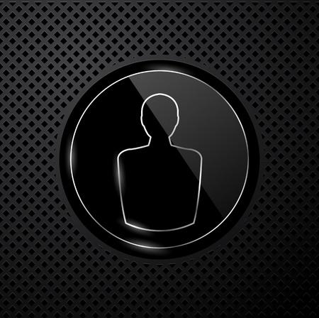 userpic: user icon on black technology background Illustration