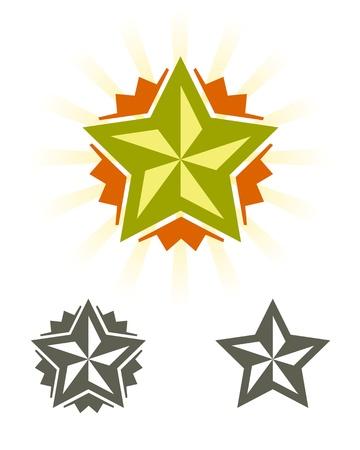 Set of stars, design elements  Vector