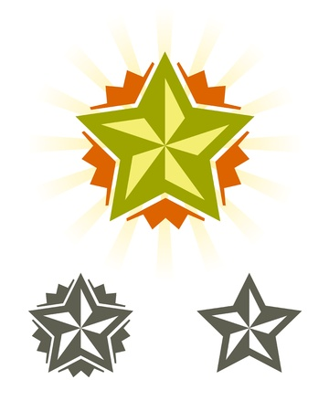 ico: Set of stars, design elements