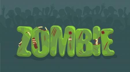 zombie bord met spookachtige silhouetten op achtergrond