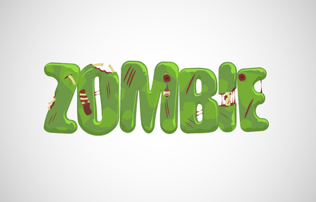 zombie text over light gray  Vector