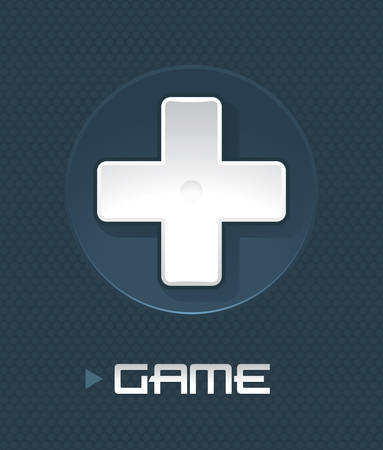 Vector illustration of game controller part on abstract background  Vector