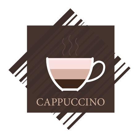 tasteful: cappuccino icon in brown and beige colors