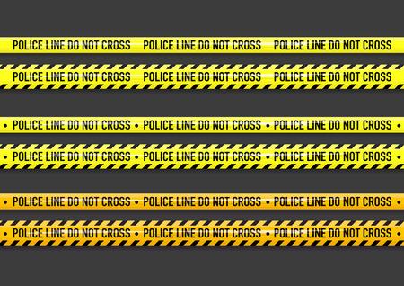 ベクトルの警察のラインはテープのデザインを越えないようにしてください。