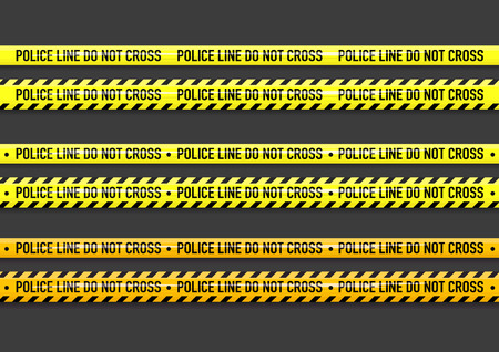 벡터 경찰 라인 테이프 디자인을 교차하지 않는다