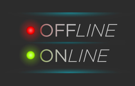 offline: Vector illustration of simple offline and online banner Illustration
