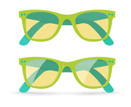Vector illustration of different style sunglasses, isolated on white background Vector