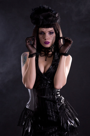 Busty goth girl girl