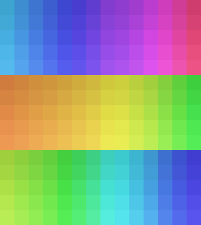 chromatic colour: Vector illustration of three color palettes in matching colors