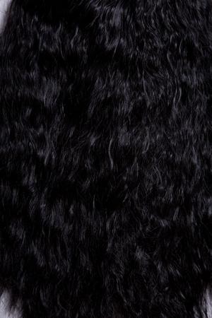 textura pelo: Textura del pelo rizado sano negro, enfoque suave