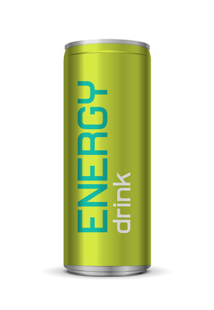 Vector illustration of energy drink can, isolated on white background
