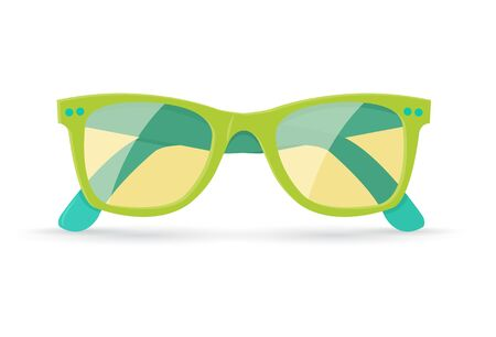 sunglasses: Vector illustration of bright summer sunglasses, isolated on white background, eps10