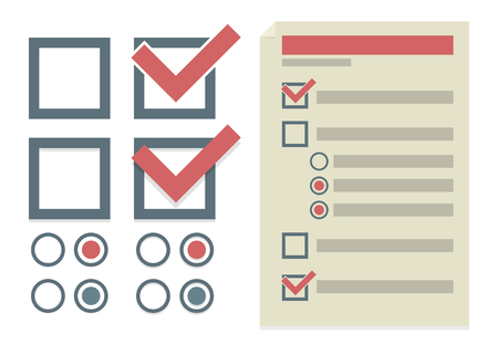 to do list: Vector set of simple design elements for To Do list Illustration