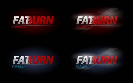burn: Vector Fat Burn text for dieting or sport nutrition concept  Illustration
